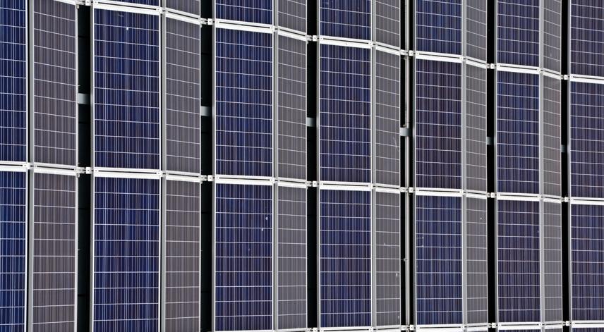 dual tilt flat roof mount solar installation